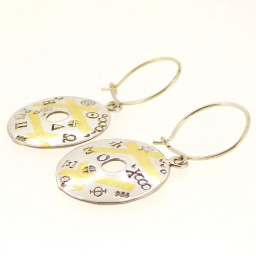 Keum boo circle earrings one